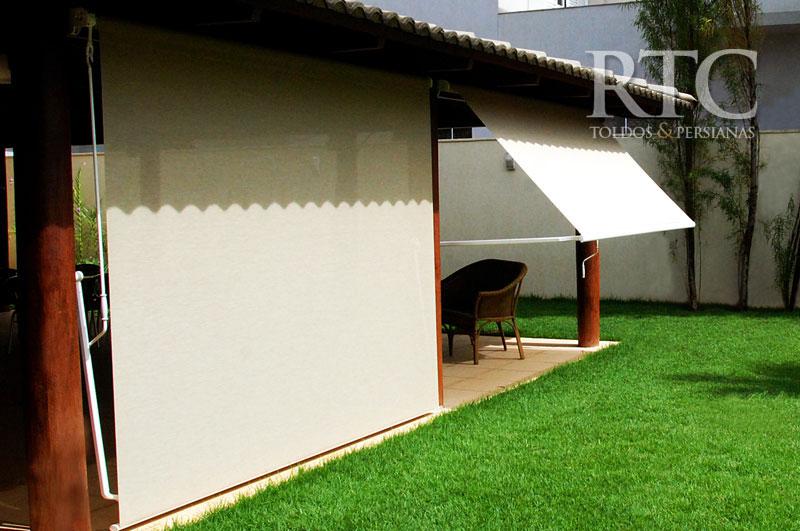 Toldo r 100 rtc toldos cortinas persianas e policarbonato for Carriles de aluminio para toldos