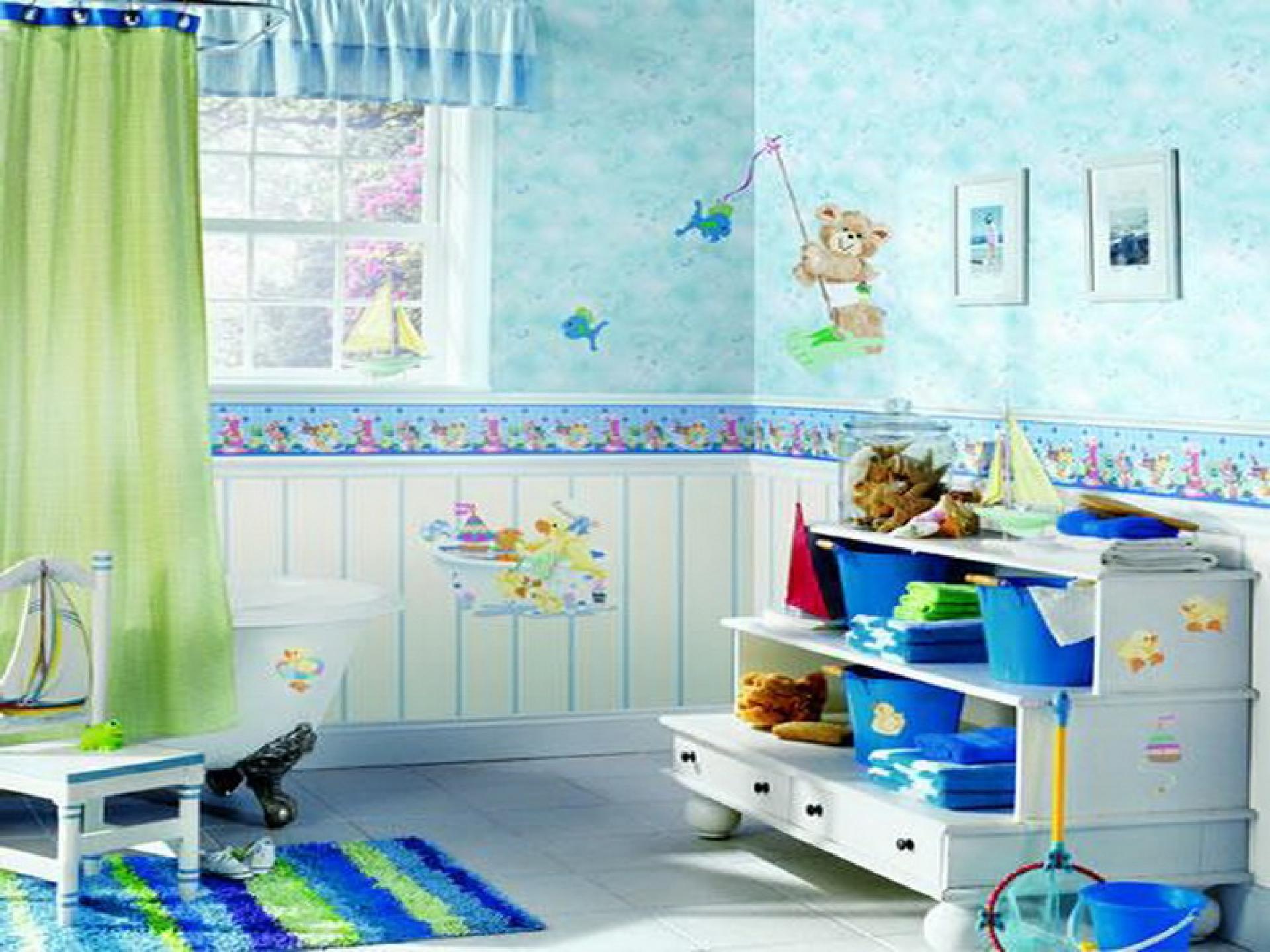 Torne a decora o do banheiro mais divertida para as - Persianas para banos ...